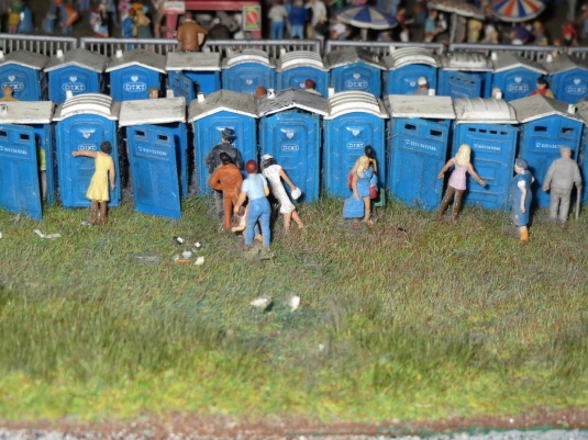 Every miniature wonderland needs a portaloo section!